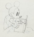 Animation Art:Production Drawing, Mickey Plays Papa Mickey Mouse Production Drawing AnimationArt (Walt Disney, 1934). ...