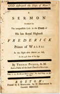 Books:Religion & Theology, Prince, Thomas: GOD DESTROYETH THE HOPE OF MAN! A SERMON OCCASION'D BY THE INEXPRESSIBLE LOSS IN THE DEATH OF HIS LATE ROYAL...