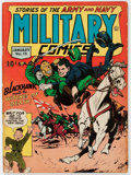 Golden Age (1938-1955):War, Military Comics #15 (Quality, 1943) Condition: VG/FN....
