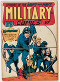 Golden Age (1938-1955):War, Military Comics #27 (Quality, 1944) Condition: VG/FN....