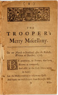 Books:Literature Pre-1900, James Dodd. [The Trooper's Merry Miscellany. Or Poems On SeveralOccasions. [London (sic) and Westminster,] [For the author,...