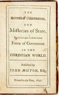 Books:Religion & Theology, Sir Walter Ralegh (Raleigh). The Secrets of Government, AndMisteries of State, Plainly laid open, in all the several Fo...
