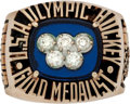 """Hockey Collectibles:Others, 1980 """"Miracle on Ice"""" Olympic Hockey Ring Presented to Coach Herb Brooks...."""