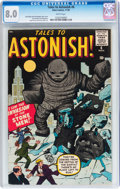 Silver Age (1956-1969):Science Fiction, Tales to Astonish #6 (Marvel, 1959) CGC VF 8.0 White pages....