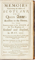 Books:World History, George Lockhart. Memoirs Concerning the Affairs of Scotland, From Queen Anne's Accession to the Throne, To the Commencem...