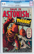 Silver Age (1956-1969):Science Fiction, Tales to Astonish #16 (Marvel, 1961) CGC VF/NM 9.0 Off-white towhite pages....