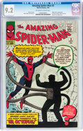 Silver Age (1956-1969):Superhero, The Amazing Spider-Man #3 (Marvel, 1963) CGC NM- 9.2 Off-white towhite pages....