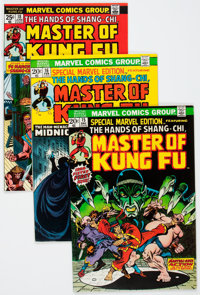 Master of Kung Fu Group (Marvel, 1973-75) Condition: Average VF/NM.... (Total: 5 Comic Books)
