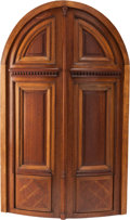 Decorative Arts, Continental:Other , A CONTINENTAL OAK ARCHITECTURAL DOOR MODEL, late 19th century. 36 x23 x 1-1/2 inches (91.4 x 58.4 x 3.8 cm). ...