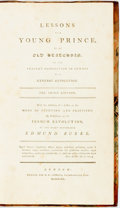 Books:World History, Edmund Burke. Lessons to a Young Prince, by an Old Statesman on the Present Disposition in Europe to a General Revolutio...