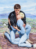 "Original Comic Art:Covers, Barnett Plotkin Loveswept #560 ""Singular Attraction"" RomancePaperback Book Cover Painting Original Art (Bantam, 1..."