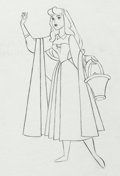 Animation Art:Production Drawing, Sleeping Beauty Briar Rose with Basket Production DrawingAnimation Art (Walt Disney, 1959). ...