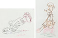 Animation Art:Production Drawing, Autograph Hound Donald Duck and Mickey Rooney ProductionDrawing Animation Art Group (Walt Disney, 1939). ... (Total: 2Original Art)