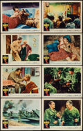"Movie Posters:War, The Naked and The Dead (Warner Bros., 1958). Lobby Card Set of 8(11"" X 14""). War.. ..."