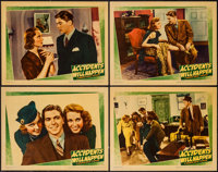 """Accidents Will Happen (Warner Brothers, 1938). Lobby Cards (4) (11"""" X 14""""). Crime. ... (Total: 4 Items)"""