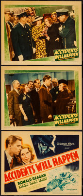 """Accidents Will Happen (Warner Brothers, 1938). Title Lobby Card and Lobby Card (2) (11"""" X 14""""). Crime. ... (To..."""