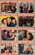 """Movie Posters:Mystery, Arrest Bulldog Drummond (Paramount, 1939). Lobby Card Set of 8 (11""""X 14""""). Mystery.. ... (Total: 8 Items)"""