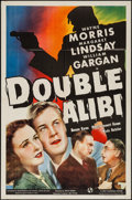"Movie Posters:Crime, Double Alibi (Universal, 1940). One Sheet (27"" X 41""). Crime.. ..."