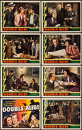 """Movie Posters:Crime, Double Alibi (Universal, 1940). Lobby Card Set of 8 (11"""" X 14"""").Crime.. ... (Total: 8 Items)"""
