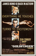 "Movie Posters:James Bond, Goldfinger (United Artists, 1964). One Sheet (27"" X 41""). GlossyStyle. James Bond.. ..."