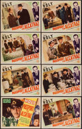 """Movie Posters:Action, Passport to Alcatraz (Columbia, 1940). Lobby Card Set of 8 (11"""" X14""""). Action.. ... (Total: 8 Items)"""