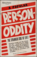 "Movie Posters:Short Subject, Person-Oddity (Universal, 1944). One Sheet (27"" X 41""). ShortSubject.. ..."
