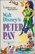 """Movie Posters:Animation, Peter Pan (Buena Vista, R-1976). One Sheet (27"""" X 41""""). Animation.. ..."""