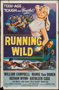 "Movie Posters:Bad Girl, Running Wild (Universal International, 1955). One Sheet (27"" X41""). Bad Girl.. ..."