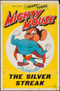 "Movie Posters:Animation, Mighty Mouse (20th Century Fox, 1945). Stock One Sheet (27"" X 41"")""The Silver Streak."" Animation.. ..."