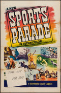 """Movie Posters:Sports, Sports Parade Stock Poster (Warner Brothers, 1940). Stock One Sheet (27"""" X 41""""). Sports.. ..."""