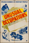 "Movie Posters:Short Subject, Unusual Occupations (Paramount, 1941). Stock One Sheet (27"" X 41"").Short Subject.. ..."