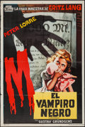 """Movie Posters:Crime, M (Terbis, R-1950s). Argentinean Poster (29"""" X 43""""). Crime.. ..."""