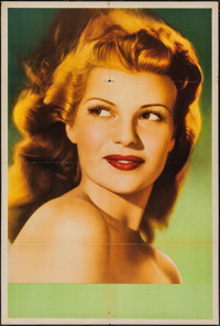 """Rita Hayworth (Columbia, 1940s). Argentinean Personality One Sheet (29"""" X 43""""). Miscellaneous"""