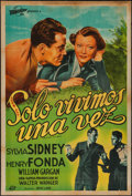 """Movie Posters:Film Noir, You Only Live Once (Transocean Film, R-1940s). Argentinean One Sheet (29"""" X 43""""). Film Noir.. ..."""