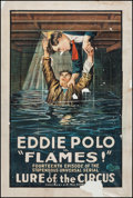 "Movie Posters:Serial, Lure of the Circus (Universal, 1918). One Sheet (28"" X 42""),Chapter 14 -- ""Flames!"" Serial.. ..."