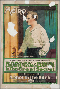 """The Great Secret (Metro, 1917). One Sheet (27"""" X 41"""") Chapter 11 --""""A Shot in the Dark."""" Adventure..."""