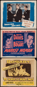 "Movie Posters:Romance, To Have and Have Not and Others Lot (Dominant, R-1956). Title Lobby Cards (2) and Lobby Card (11"" X 14""). Romance.. ... (Total: 3 Items)"