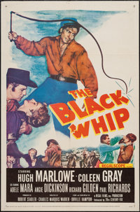 """The Black Whip & Other Lot (20th Century Fox, 1956). One Sheets (2) (27"""" X 41""""). Western. ... (Total:..."""