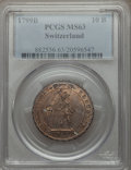 Switzerland:Helvetic Confederation, Switzerland: Helvetian Republic 10 Batzen 1799-B MS63 PCGS,...