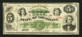 Obsoletes By State:Louisiana, New Orleans, LA- State of Louisiana $5 Apr. 26, 1866. ...
