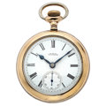 Timepieces:Pocket (post 1900), Waltham 21 Jewels Vanguard Open Face Pocket Watch. ...