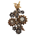 Estate Jewelry:Brooches - Pins, Antique Diamond, Silver, Gold Pendant-Brooch. ...