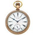 Timepieces:Pocket (post 1900), Waltham 19 Jewels Crescent St. 24-Hour Pocket Watch. ...