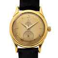 Timepieces:Wristwatch, Omega 18k Gold Bumper Automatic Chronometer Wristwatch. ...