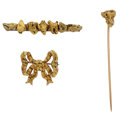 Estate Jewelry:Lots, Lot of Gold Nugget Brooches. ... (Total: 3 Items)