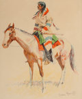 Prints, FREDERIC REMINGTON (American, 1861-1909). Buckskins (three works), 1901. Offset lithographs. 17-1/4 x 14-1/4 inches (43.... (Total: 3 Items)
