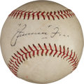 Autographs:Baseballs, Circa 1950 Jimmie Foxx Single Signed Baseball, PSA/DNA EX-MT 6....