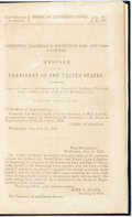 Books:Americana & American History, [Mississippi River]. [James Buchanan]. Message from thePresident of the United States, Transmitting Copies ofContracts...