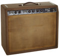 Musical Instruments:Amplifiers, PA, & Effects, 1962 Fender Deluxe Brown Guitar Amplifier, Serial # D00374....