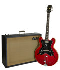 Musical Instruments:Electric Guitars, 1963 Epiphone Professional Cherry Semi-Hollow Body Electric Guitarand Amplifier, Serial #s 119756 and 570001.... (Total: 2 Items)